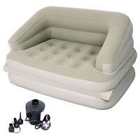 JILONG INFLATABLE 5 in 1 MULTI FUNCTIONAL SOFA AIR BED MATTRESS + ELECTRIC PUMP