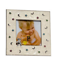 """FIRST YEAR BABY PHOTO FRAME 3x3"""" PHOTO SILVER PLATED CHRISTENING GIFT NEWBORN"""