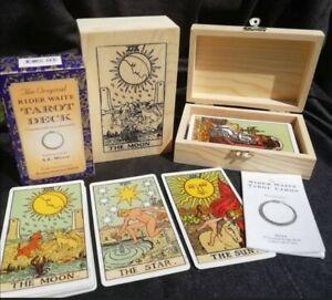 Tarot cards Deck. 78 Cards Bag plus handmade designer Box