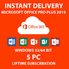 MICROSOFT ÓFFICE 365 PRO PLUS 2020 5 Devices 5TB PC/Mac (1 SECOND DELIVERY)