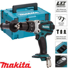 Makita DHP458Z 18V Li-Ion Taladro Inalámbrico Combi Cuerpo con Incrustaciones 821551-8 Estuche y