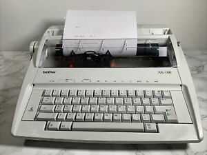 Brother AX-100 Electric Typewriter - VG Cosmetic Condition, VG Working Order