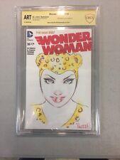 Wonder Woman 36 Blank Sketch By Bill Tucci CBCS ART Cheetah