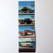 Aland Retro Cars 4 post stamp block