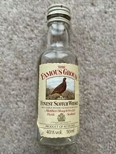 Collectable Empty Miniature Bottle Of The Famous Grouse Scotch Whisky