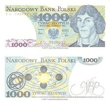 Poland 1000 Zlotych 1982 P-146c Banknotes UNC