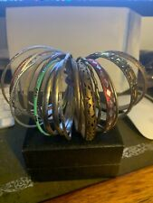 FASHION JEWELLERY BUNDLE OF 22 BANGLES ALL DIFFERENT