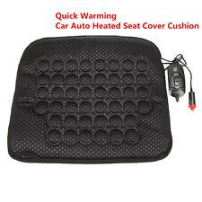 Black 12V Car Auto Seat Heated Heater Cushion Cover Warmer Pad Mat Quick Warming