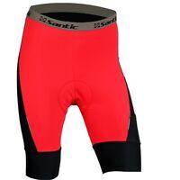 Santic Men's Bicycle Short Cycling Shorts Bike Coolmax Padded Half Pants Red