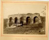 Algérie, Constantine, Aqueduc romain  Vintage albumen print.  Tirage albuminé