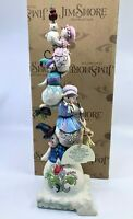 Jim Shore A Family of Flakes Stacked Snowman Family Figurine