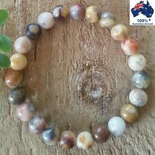 CRAZY LACE AGATE Chakra Balancing Bracelet Crystal Healing Gemstone Worry Beads