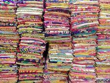 Indian Kantha Twin Quilt Handmade Patchwork Reversible Bedspread Blanket Throw~