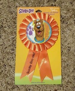 Scooby-Doo Party Supplies Orange Guest of Honor Ribbon Favor - NEW
