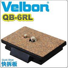 NEW BOXED GENUINE Velbon QB-6RL Quick release Vel-flo 9 PH-368 CX-686 QB6RL