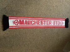 RARE Original circa 1970`s Manchester United Football Scarf