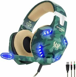 Kotion Each G2600 Gaming Headset MIC LED Headphones PS4 Xbox PC 3.5mm USED