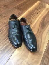BARKER Men's Leather Black Brogues Shoes Size-10