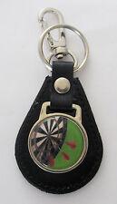Darts Leather Key Ring - green