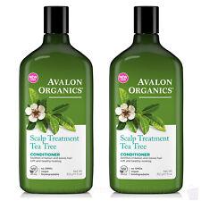 PACK OF 2 Avalon Organics Tea Tree SCALP TREATMENT CONDITIONER 2x312g