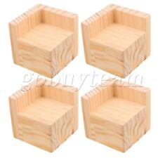 4x Wood Home Furniture Riser Bed Lifters 6x6CM Feet 5CM Lift Height