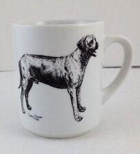 1985 Cindy Farmer Labrador Retriever dog coffee mug black & white illustration