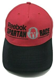 SPARTAN RACE hat red black adjustable cap Reebok