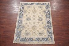 Hand-Knotted 6X8 Oushak Area Rug Vegetable Dye Wool Oriental Carpet (5.8 x 8.2)
