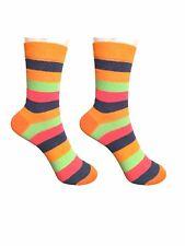 2 Pack Ladies Rainbow Striped Cotton Rich Soft Ankle Socks UK 4.5-7