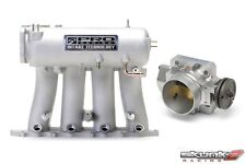 SKUNK2 Intake Manifold Pro Silver+Throttle Body 70mm 93-01 Prelude H22A1/H22A4