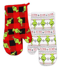 Dr. Seuss The Grinch Set of 2 Cotton Oven Mitts - 6.5 x 13 in.