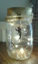 Battery LED Fairy Lights in Hanging Glass Mason Jar Tinker Bell/Sugarplum Fairy