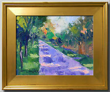 JOSE TRUJILLO FRAMED IMPRESSIONISM PLEIN AIR OIL PAINTING PATHWAY LANDSCAPE 011