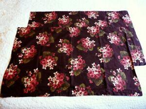 Ralph Lauren Narrow Creek Aubergine Floral Pillow Shams King Set Cottagecore