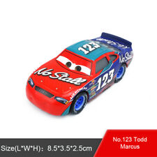 Disney Pixar Cars 3 No.123 Todd Marcus Diecast Metal Toy Model Car 1:55 Loose