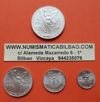 MEXICO 1/2 1/4 1/10 1/20 ONZA 1993 Serie LIBERTAD UNC 4x SILVER COINS OZ Mejico