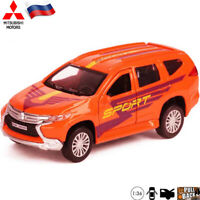 Diecast Vehicles Scale 1:36 Mitsubishi Pajero Rally Sport Russian Toy Model Car