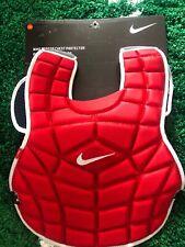 "Nike Catchers Baseball Chest Protector 16"" Red White PBP300-600 DE3539"