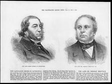 1874 Antique Print  - PORTRAIT Baron Meyer de Rothschild Herman Merivale (196)
