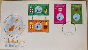 """Guernsey Stamps: """"Christmas"""" - First Day Cover 1975"""