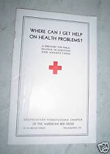 1941 Booklet Red Cross Where Can I Get Help on Health