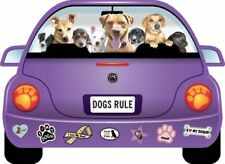 """DOGS RULE!"" PUPMOBILE  car magnet"