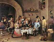 David Teniers the Younger dodicesima notte il re bevande stampa in A4