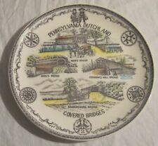 Pennsylvania Dutch Covered Bridges Plate - Langfelder Homma & Carroll, Japan