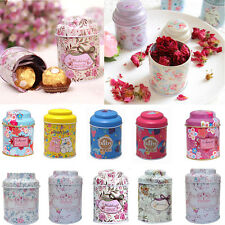 New Universal Flower Coffee Sugar Tea Sealed Candy Container Jar Tin Box Metal