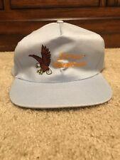 Vintage Stone Mountain Snapback Trucker Hat Bald Eagle USA Patriotic Novelty