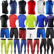 Mens Compression Base Layer Skins Sports T-Shirts Tank Top Vest Leggings Shorts