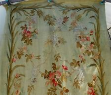 "Aubusson large  French antique tapestry 19th-century floral decor 120"" x 48 """