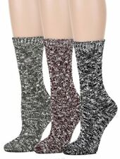 Leotruny Women's Vintage Knit Crew Boot Socks 3pairs-assorted