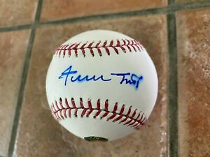 Willie Mays autograph  baseball Say Hey hologram bleeding!